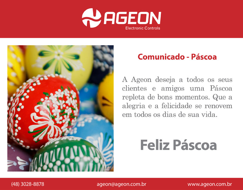 Comunicado de Páscoa - Ageon