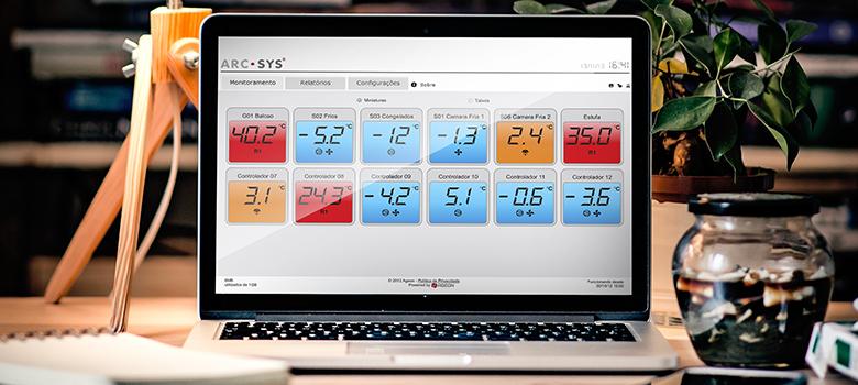 Monitoramento de Temperatura com o ArcSys
