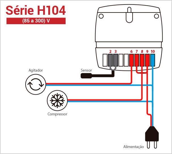 Ligação Elétrica - Termostato H104