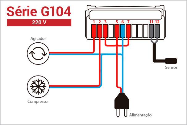 Ligação Elétrica - Termostato G104