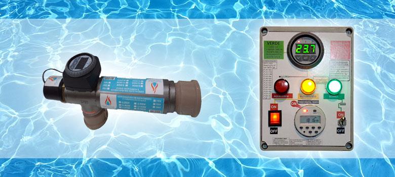 Aquecedores de piscinas TurboHot com controladores Ageon