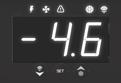 Display dos quadros de comando SmartSet Max para Câmaras Frias