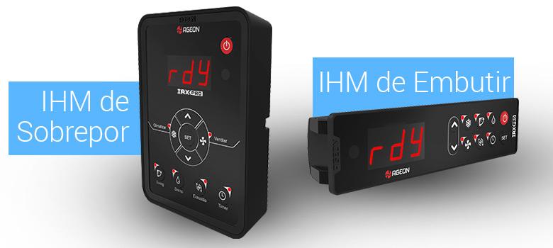 Opções de IHM - Inversor de Frequência IRX Pro para Climatizador