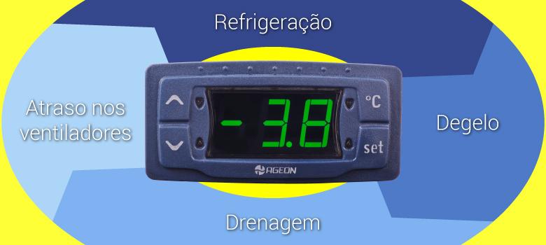 Ciclo de Degelo nos Controladores de Temperatura Ageon