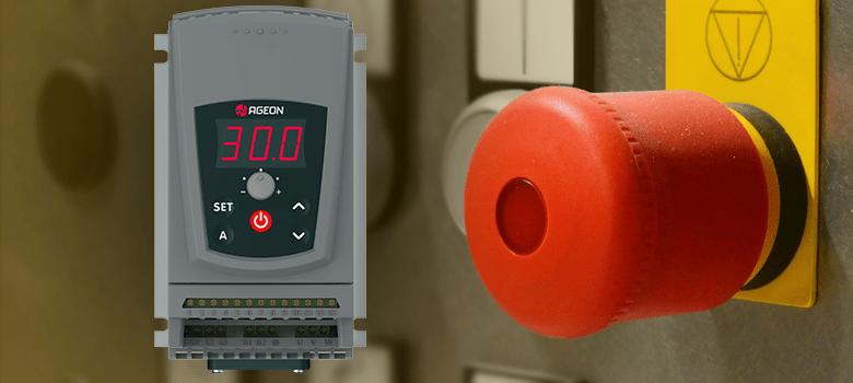 Adicionando um botão de emergência em Inversor de Frequência
