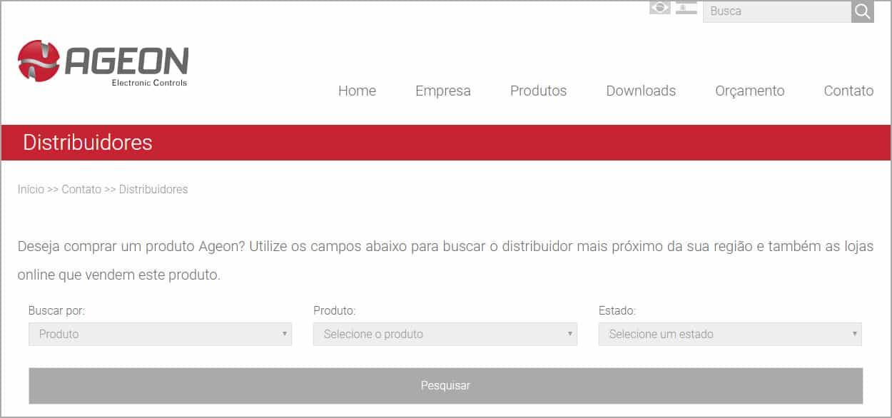 Adquirir produtos Ageon - Página de Distribuidores