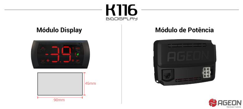 Controlador de Temperatura K116 BigDisplay