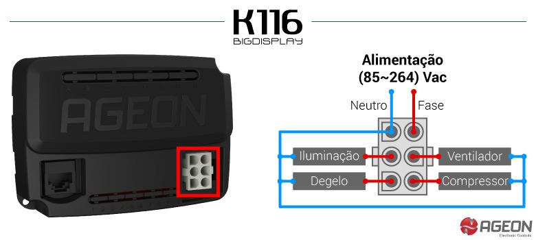 Ligação do K116 BigDisplay - Módulo de Potência
