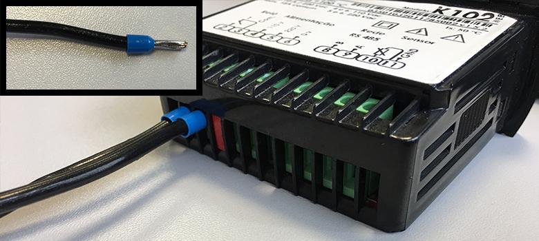 Ligação do termostato com terminal simples
