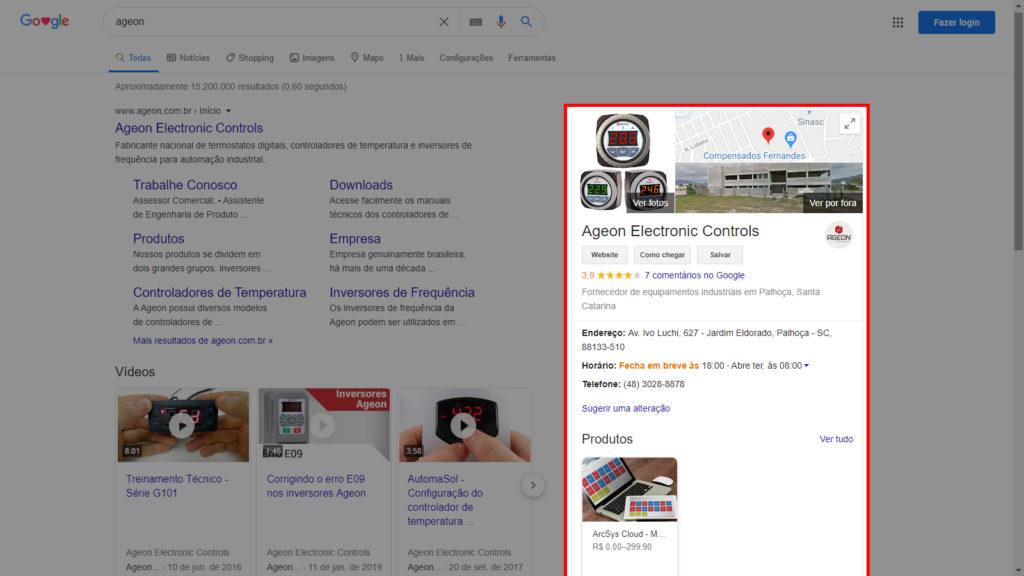 Google Meu Negócio para empresas de refrigeração