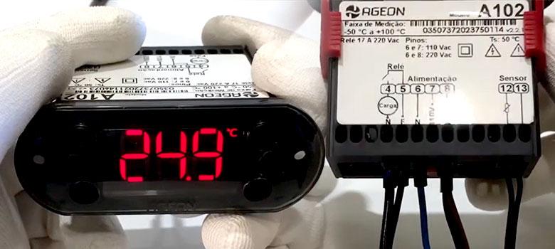 Como Instalar e configurar o controlador de temperatura Linha Black A102