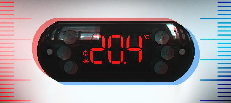Controlador de temperatura duplo estágio Ageon