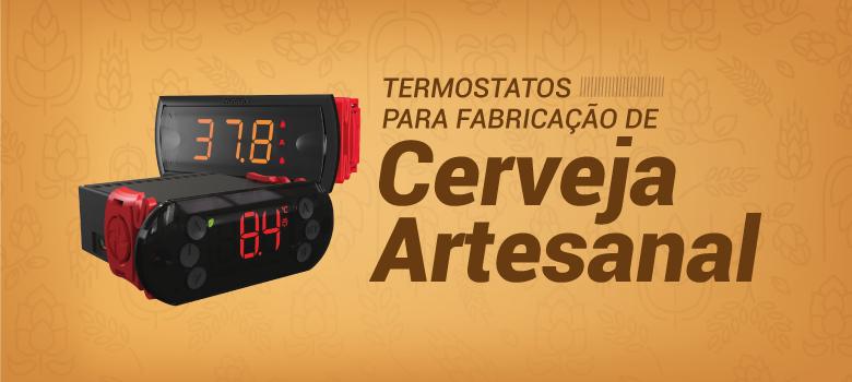 termostatos Ageon utilizados para fabricação de cerveja artesanal