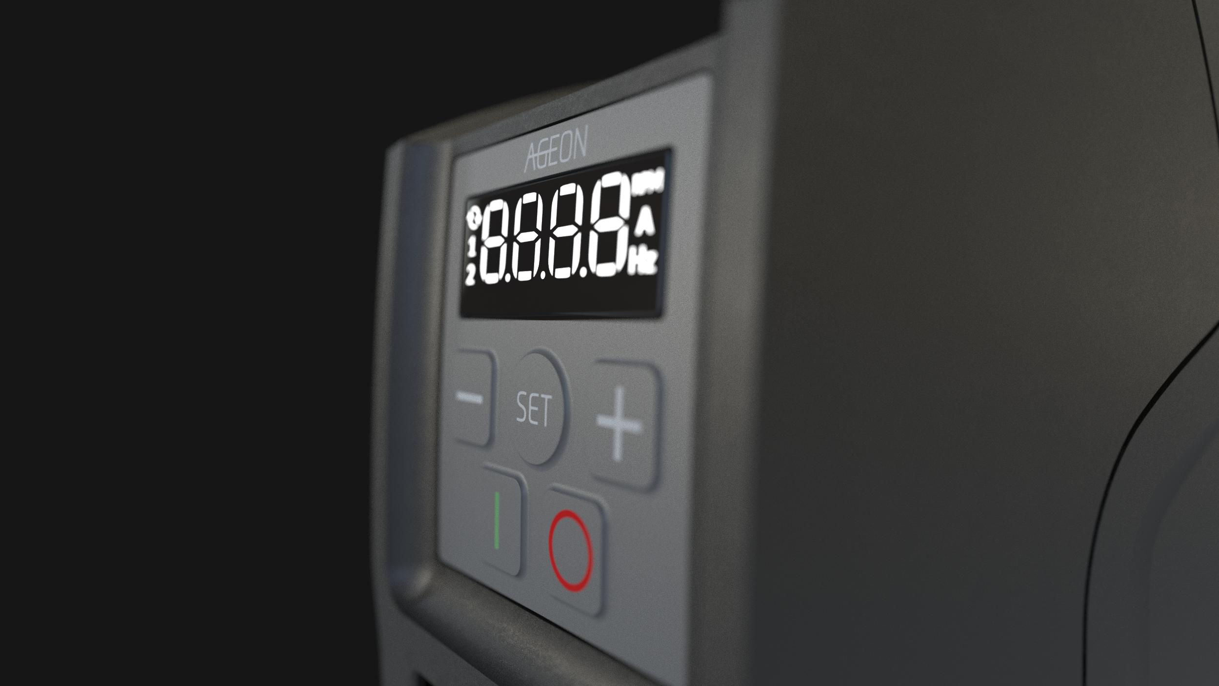 Display no inversor de frequência AG Drive